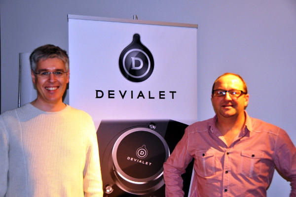 Tim Schuler (right) from Soundhaus of Napier with Andy Kennard of Devialet.