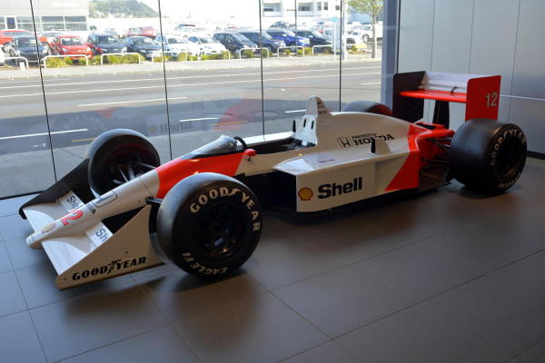 The 1988 MP4/4 that was driven by Ayrton Senna