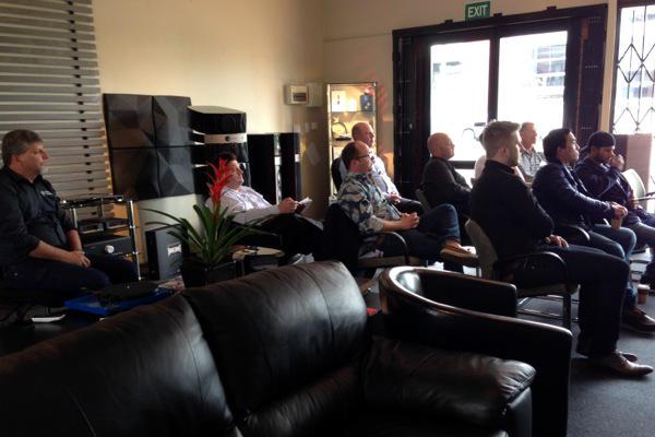 An intent audience of dealers from Auckland, Napier, Wellington, Christchurch & Dunedin