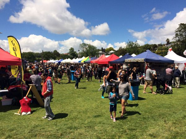 The Busy Market Area @ The Grey Lynn Park Festival