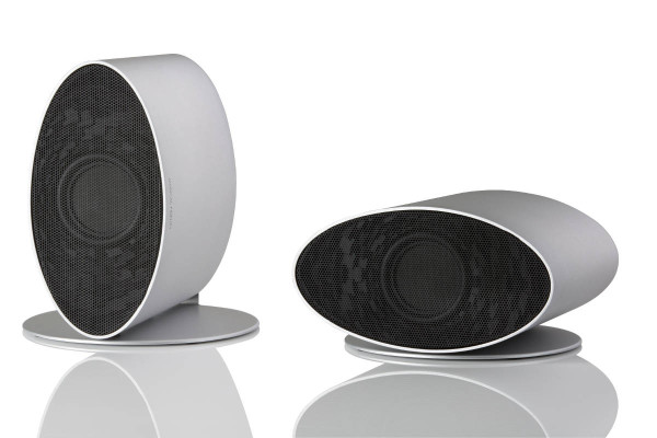MF Merlin Speakers Silver